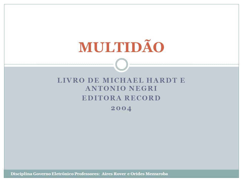 Livro de Michael Hardt e Antonio Negri Editora Record 2004