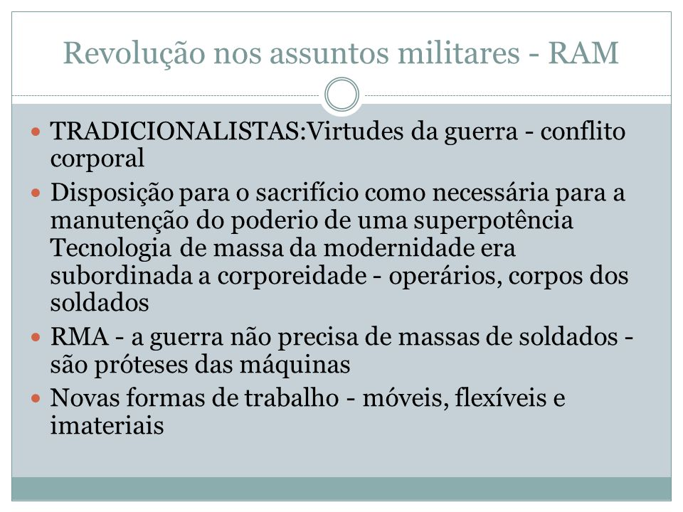 Revolução nos assuntos militares - RAM