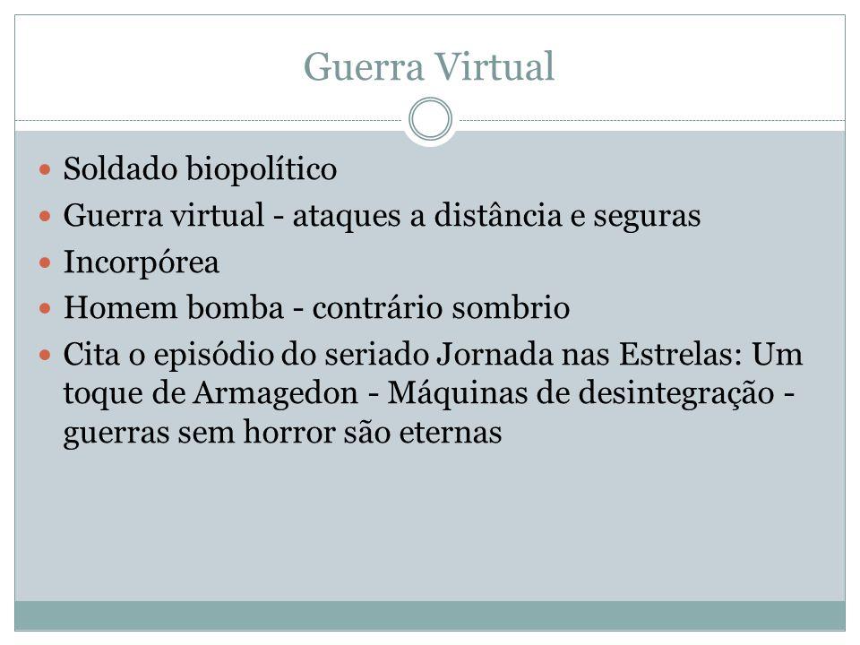 Guerra Virtual Soldado biopolítico