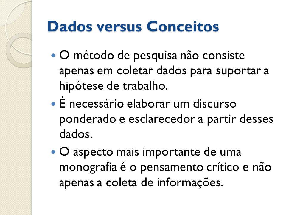 Dados versus Conceitos