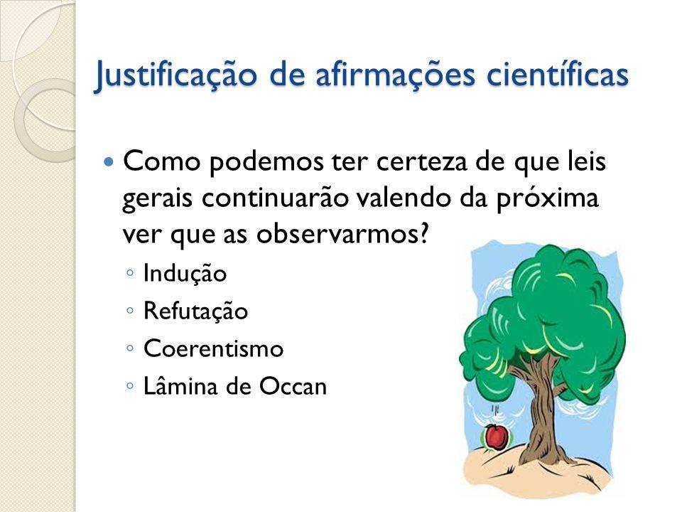 Justificação de afirmações científicas