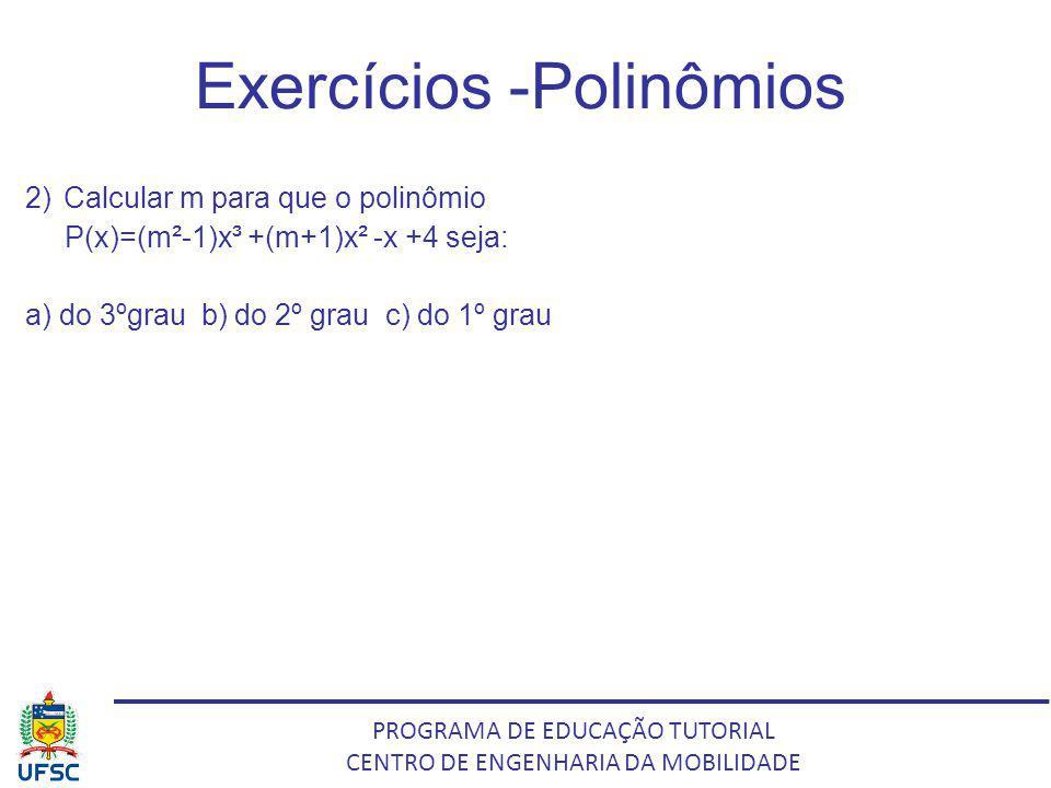 Exercícios -Polinômios