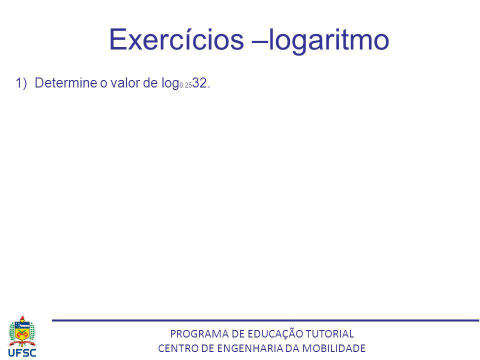 Exercícios –logaritmo