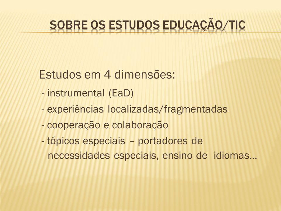Sobre os estudos educação/TIC