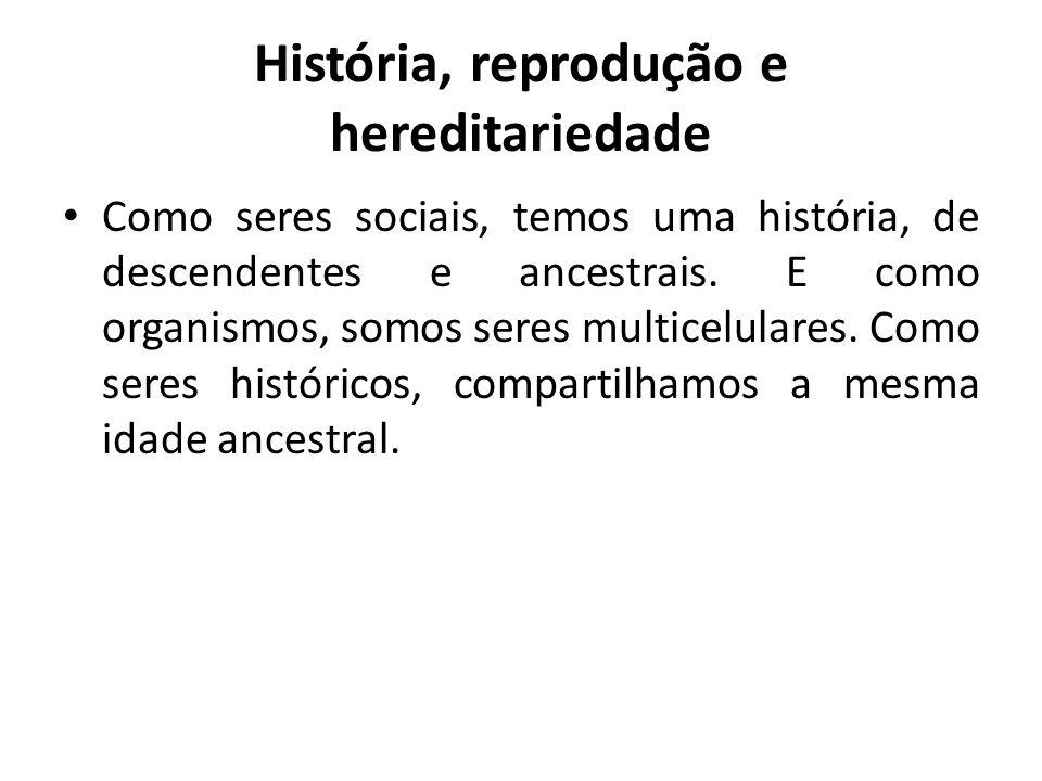 História, reprodução e hereditariedade