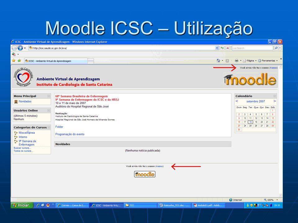 Moodle ICSC – Utilização