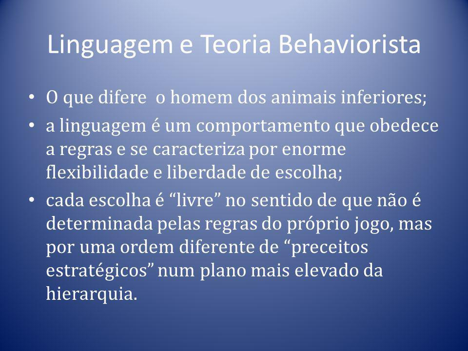 Linguagem e Teoria Behaviorista