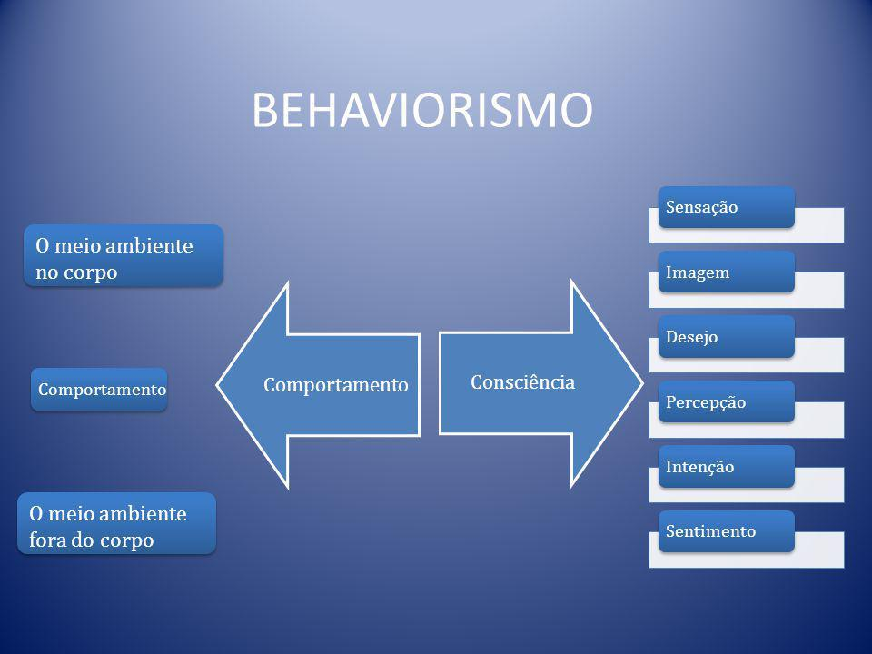 BEHAVIORISMO O meio ambiente no corpo O meio ambiente fora do corpo