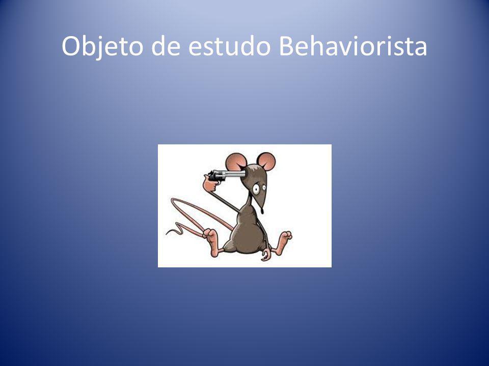 Objeto de estudo Behaviorista