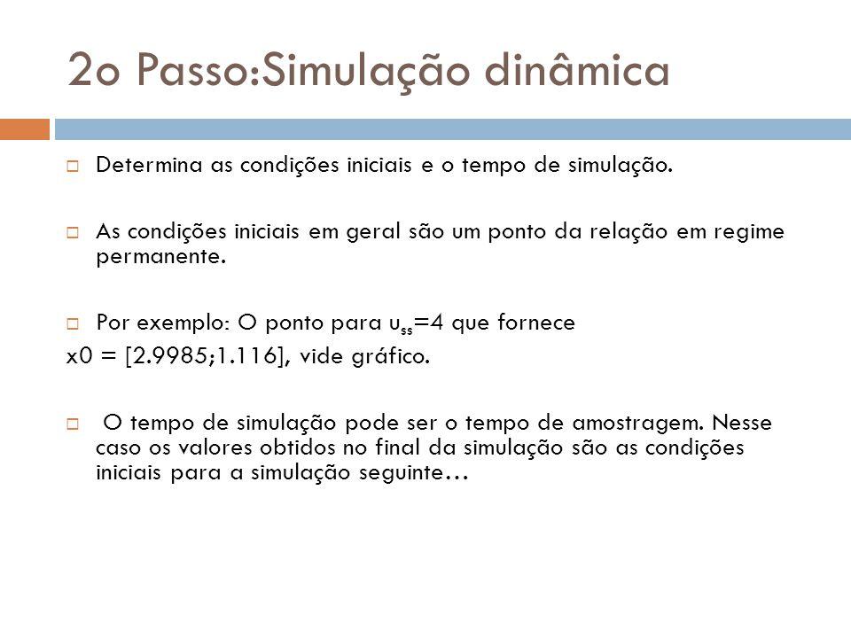 2o Passo:Simulação dinâmica