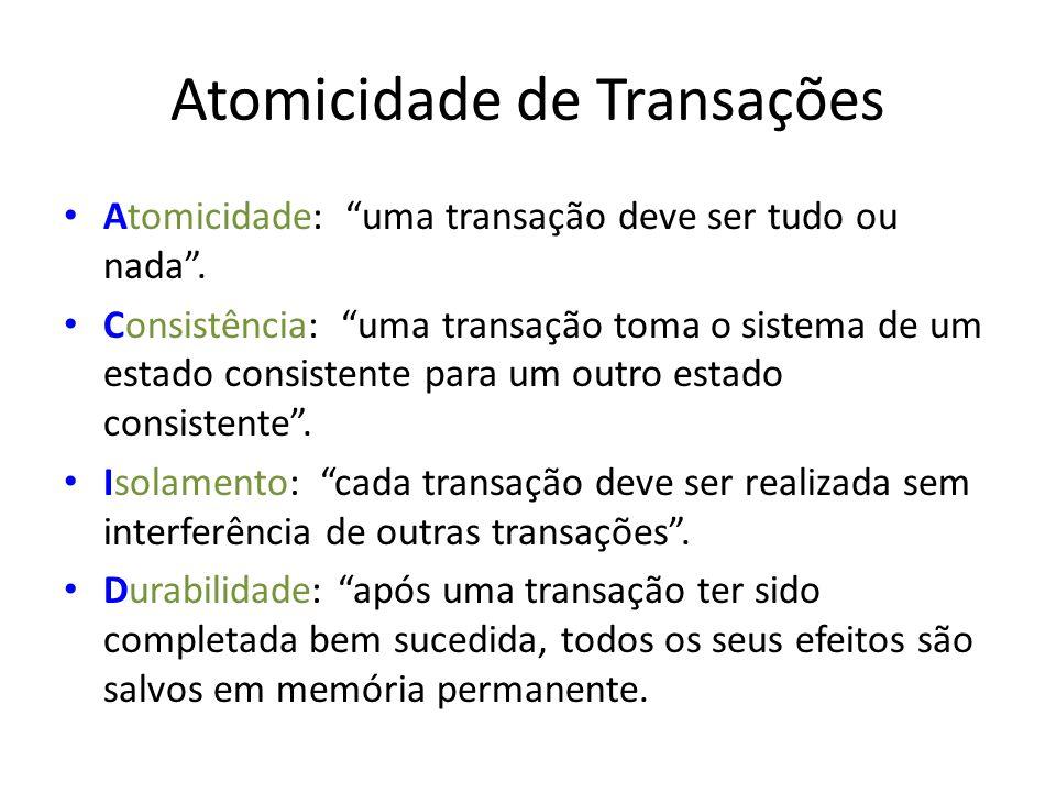 Atomicidade de Transações