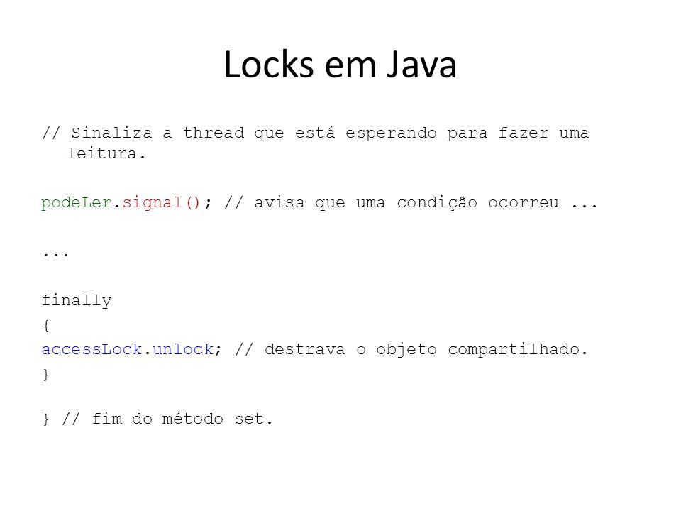 Locks em Java