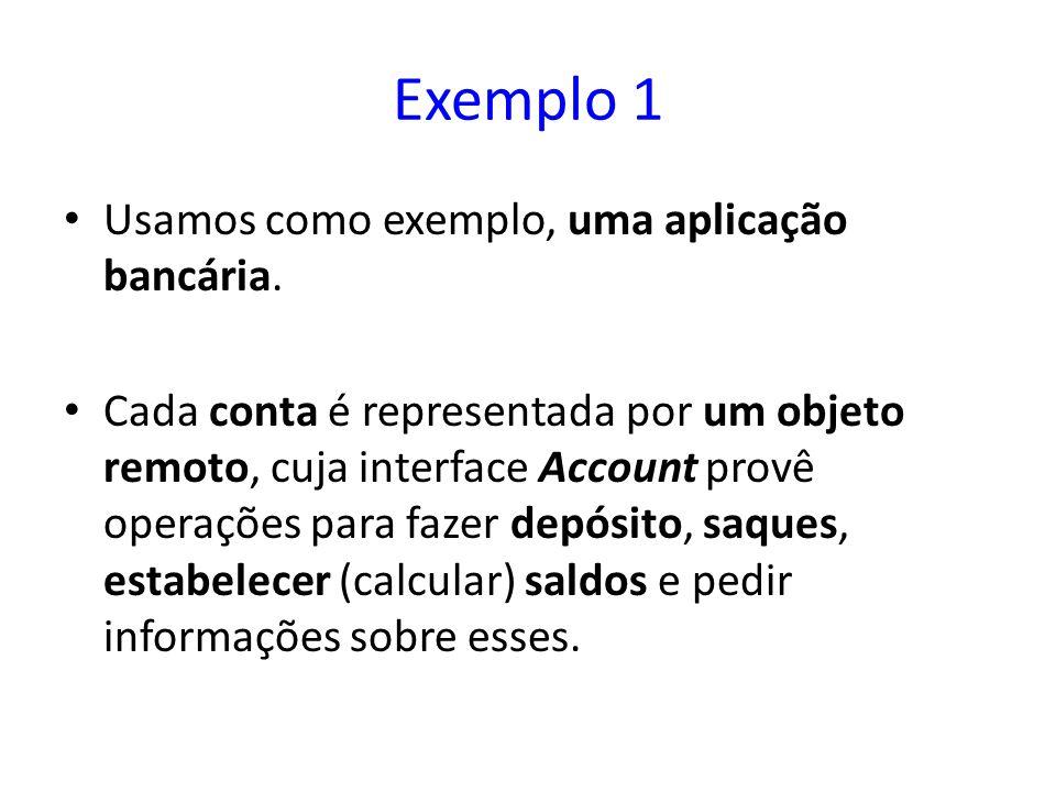 Exemplo 1 Usamos como exemplo, uma aplicação bancária.