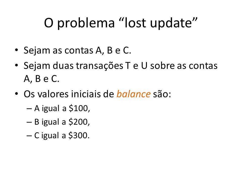 O problema lost update