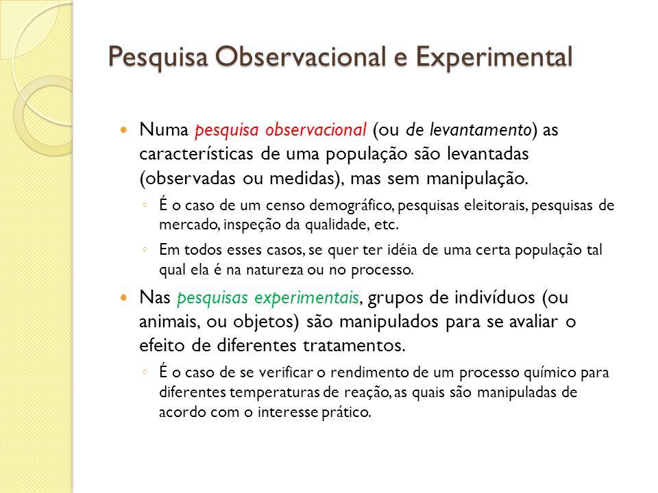Pesquisa Observacional e Experimental