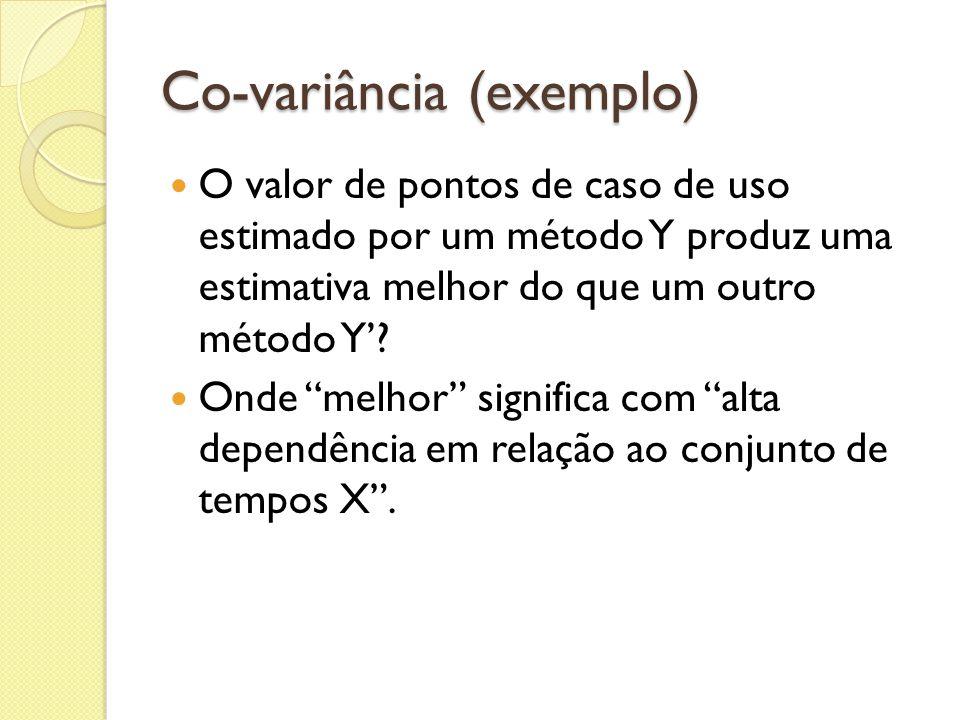 Co-variância (exemplo)