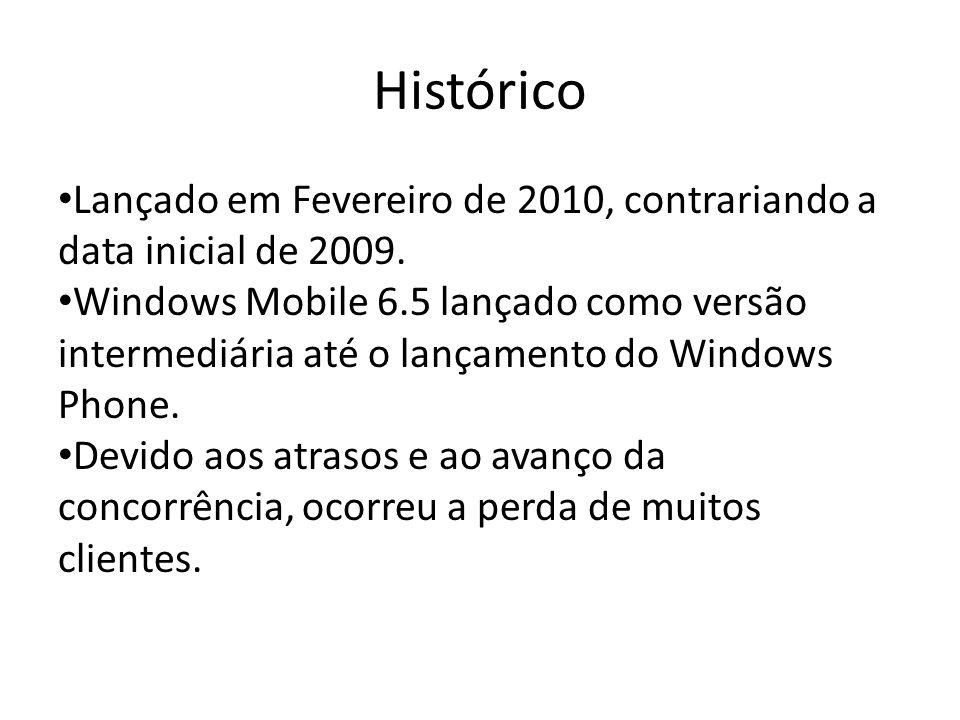 Histórico Lançado em Fevereiro de 2010, contrariando a data inicial de 2009.