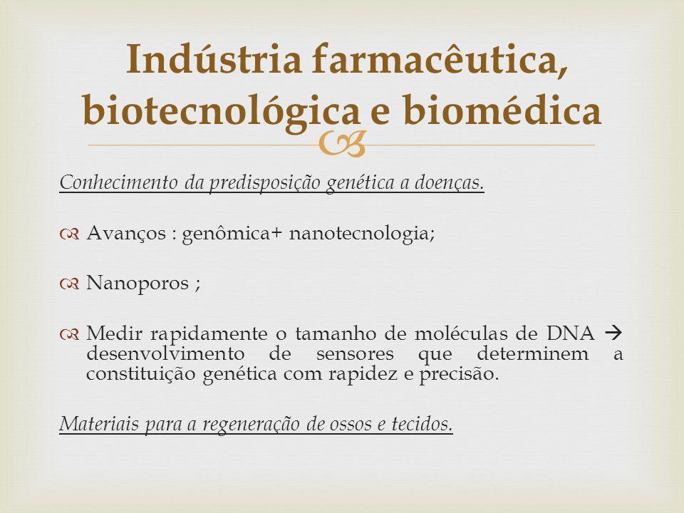 Indústria farmacêutica, biotecnológica e biomédica