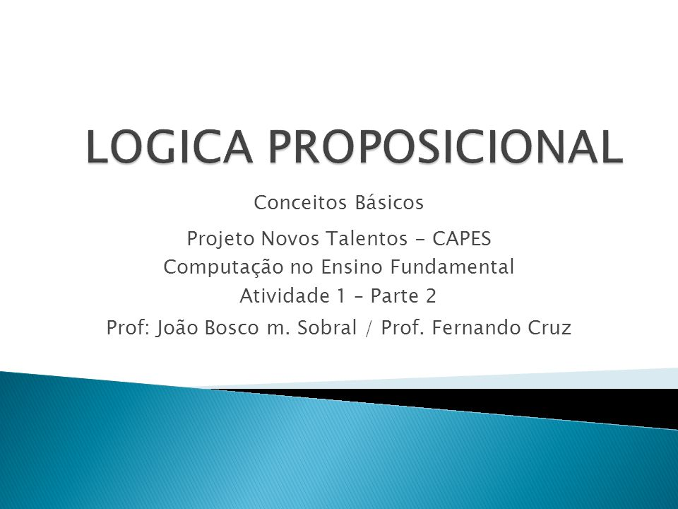 Prof: João Bosco m. Sobral / Prof. Fernando Cruz