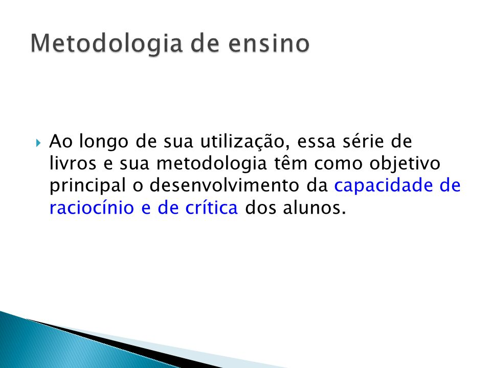 Metodologia de ensino