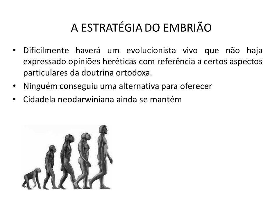 A ESTRATÉGIA DO EMBRIÃO