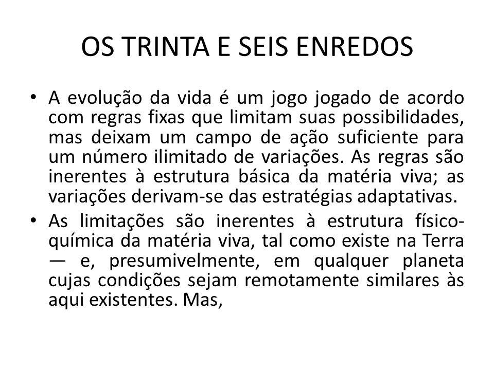 OS TRINTA E SEIS ENREDOS