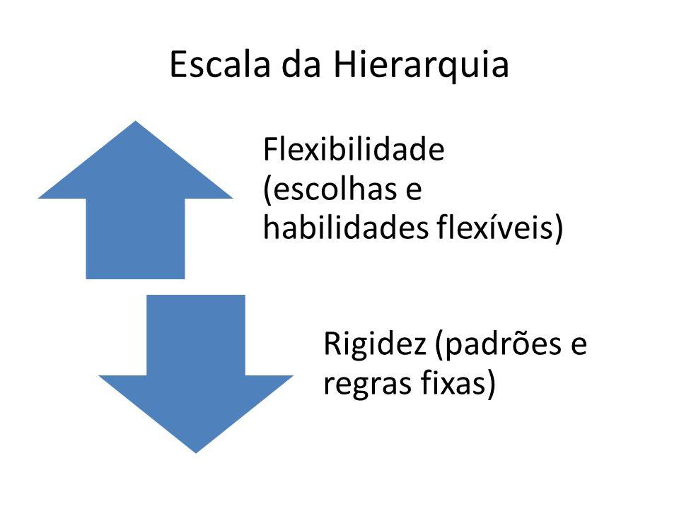 Escala da Hierarquia Flexibilidade (escolhas e habilidades flexíveis)