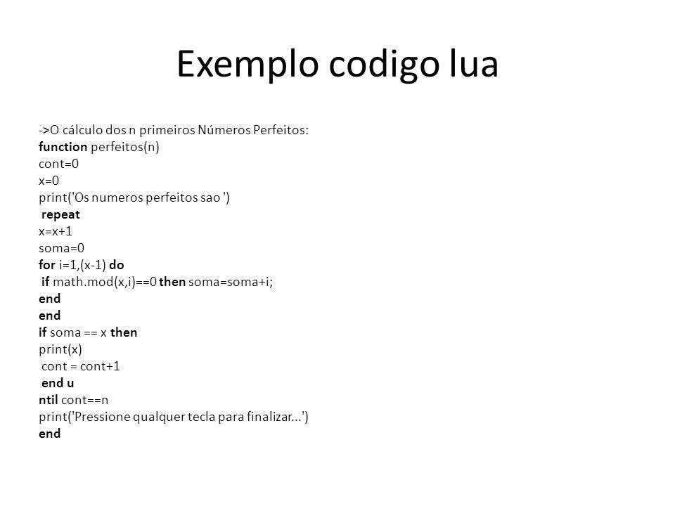 Exemplo codigo lua
