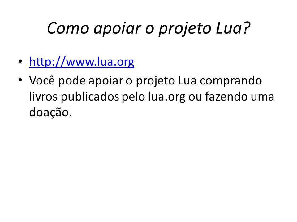 Como apoiar o projeto Lua