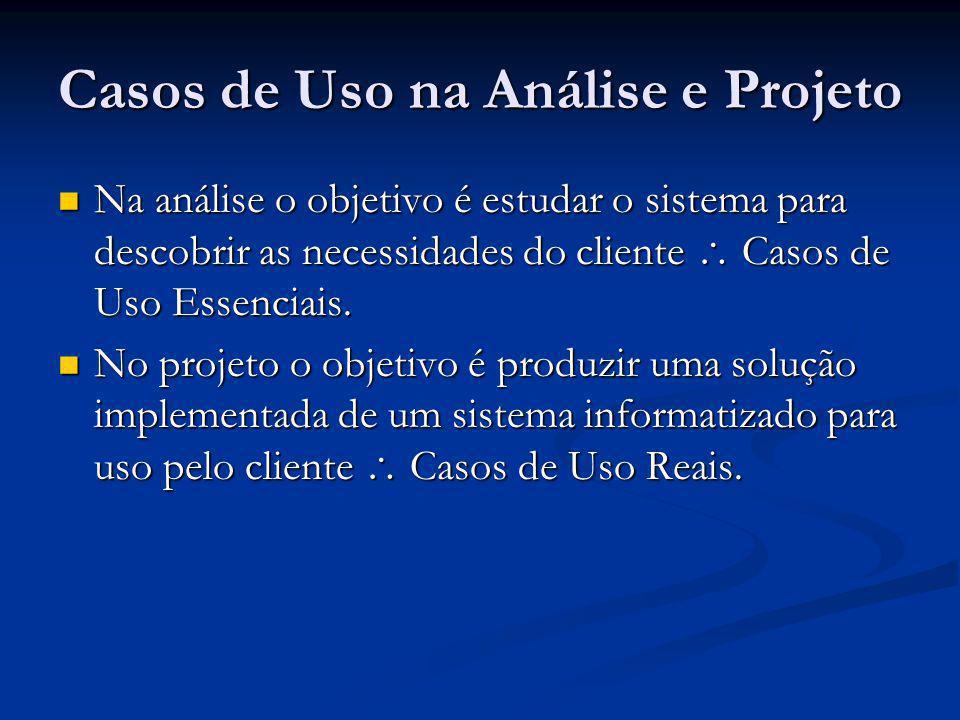 Casos de Uso na Análise e Projeto