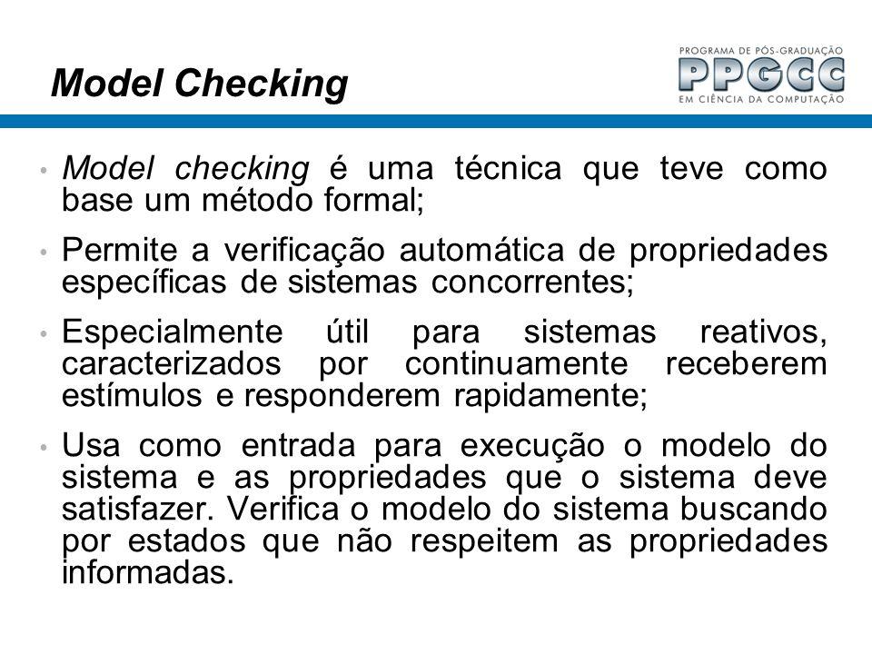 Model Checking Model checking é uma técnica que teve como base um método formal;