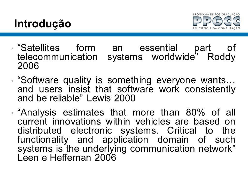 Introdução Satellites form an essential part of telecommunication systems worldwide Roddy 2006.