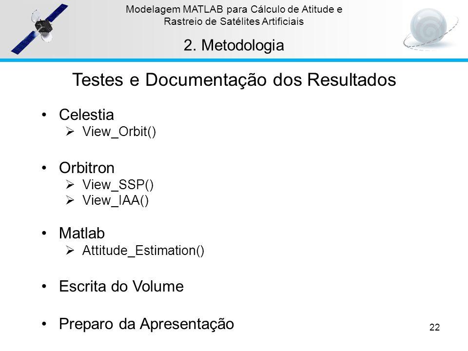 Testes e Documentação dos Resultados