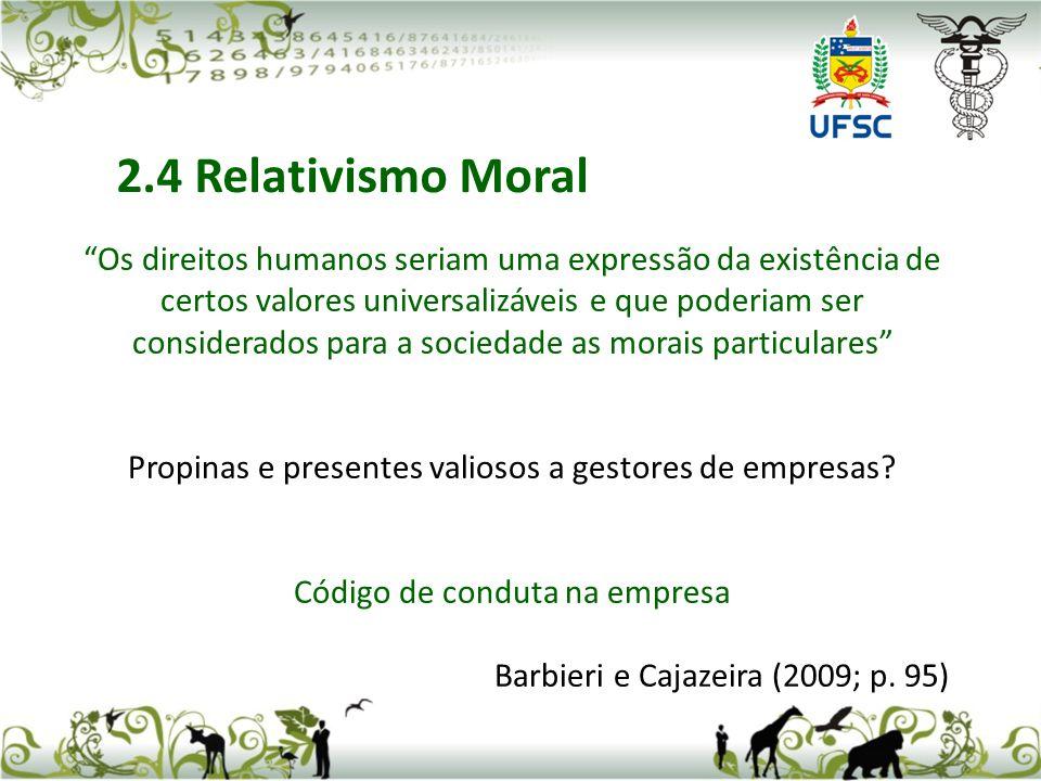 2.4 Relativismo Moral
