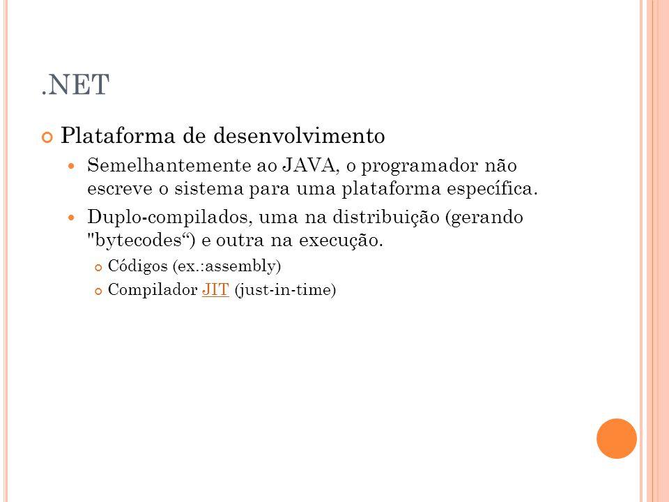 .NET Plataforma de desenvolvimento