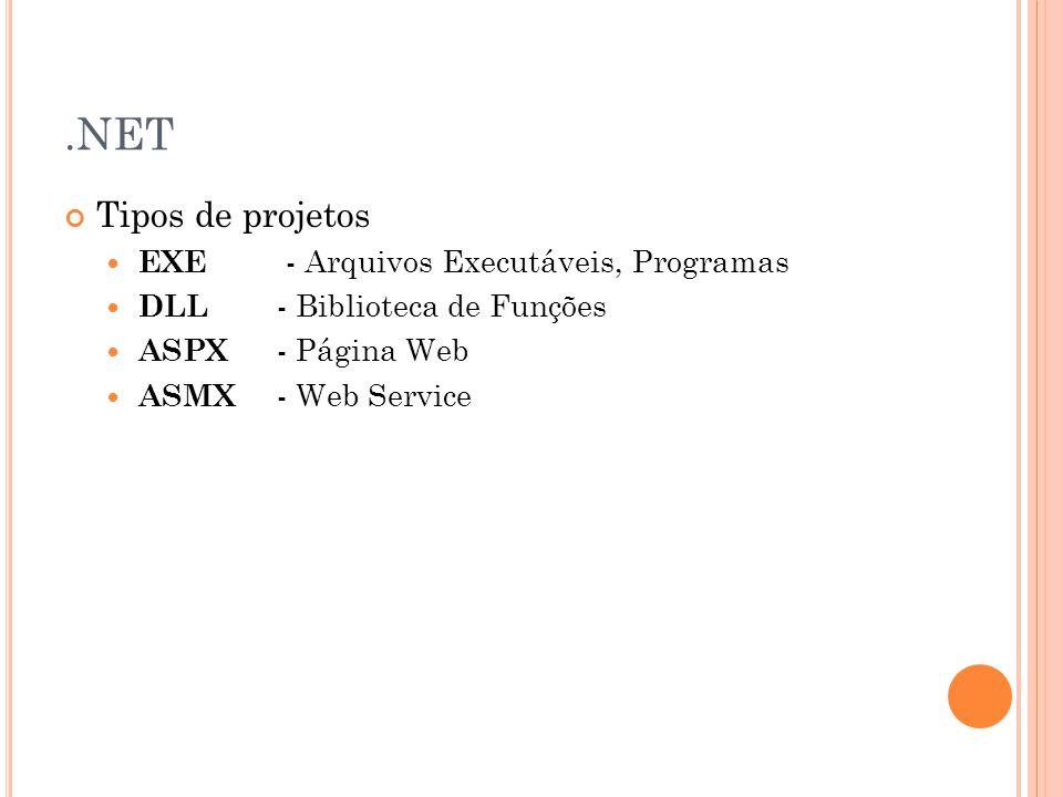 .NET Tipos de projetos EXE - Arquivos Executáveis, Programas