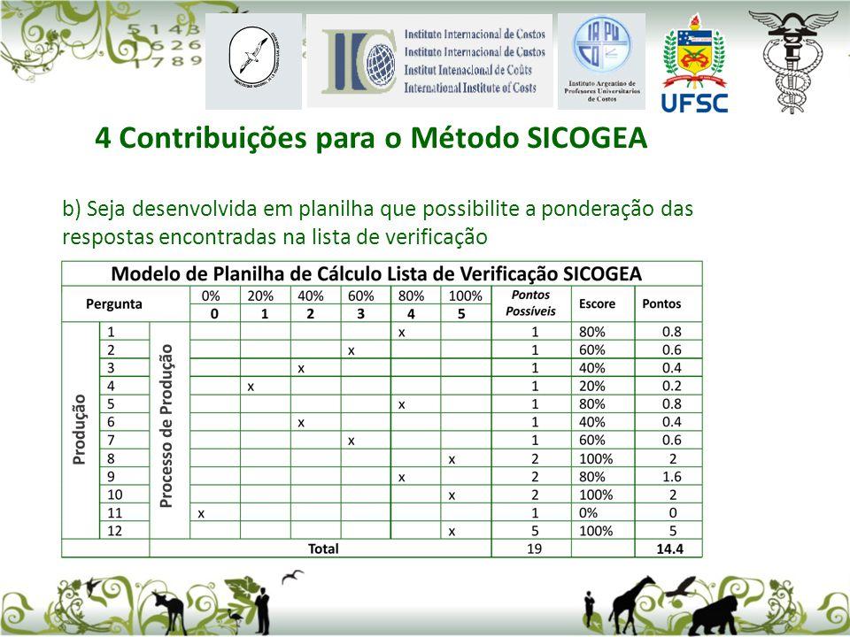 4 Contribuições para o Método SICOGEA