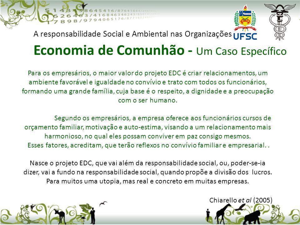 Economia de Comunhão - Um Caso Específico