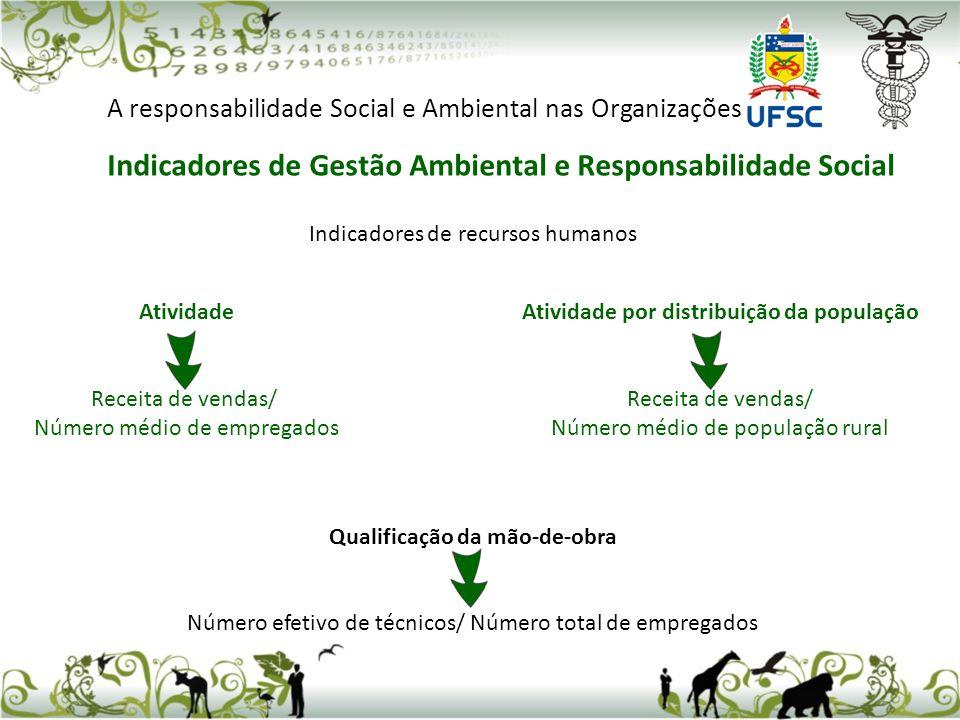 Qualificação da mão-de-obra Atividade por distribuição da população