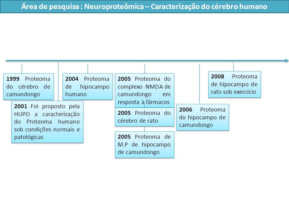 Área de pesquisa : Neuroproteômica – Caracterização do cérebro humano