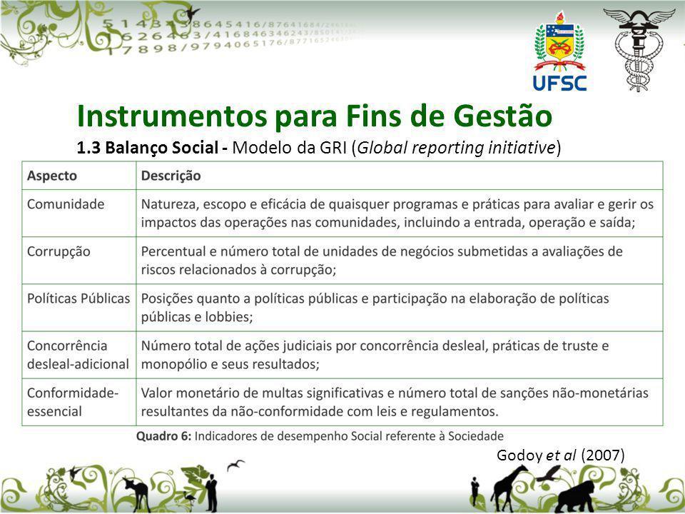 Instrumentos para Fins de Gestão