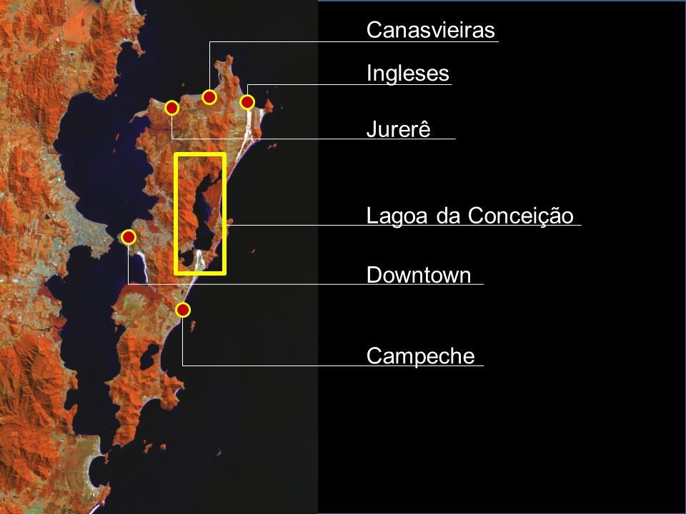 Canasvieiras Ingleses Jurerê Lagoa da Conceição Downtown Campeche
