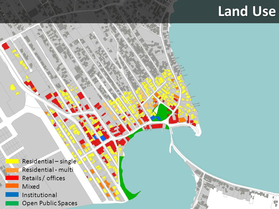 Land Use Residential – single Residential - multi Retails / offices
