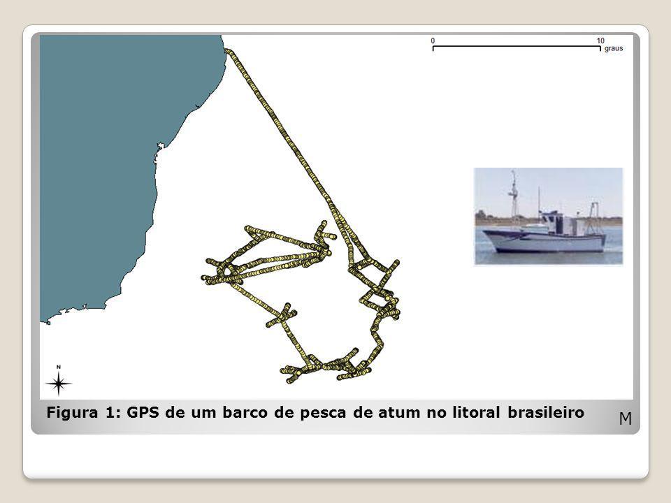 Figura 1: GPS de um barco de pesca de atum no litoral brasileiro