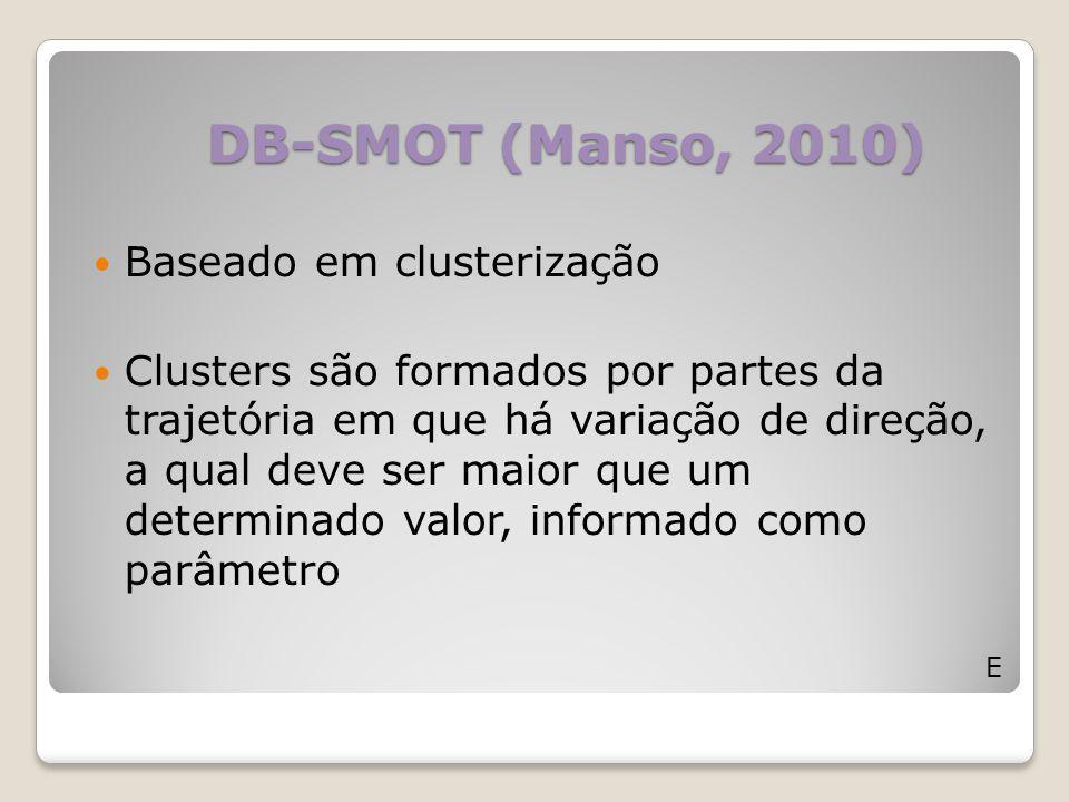 DB-SMOT (Manso, 2010) Baseado em clusterização