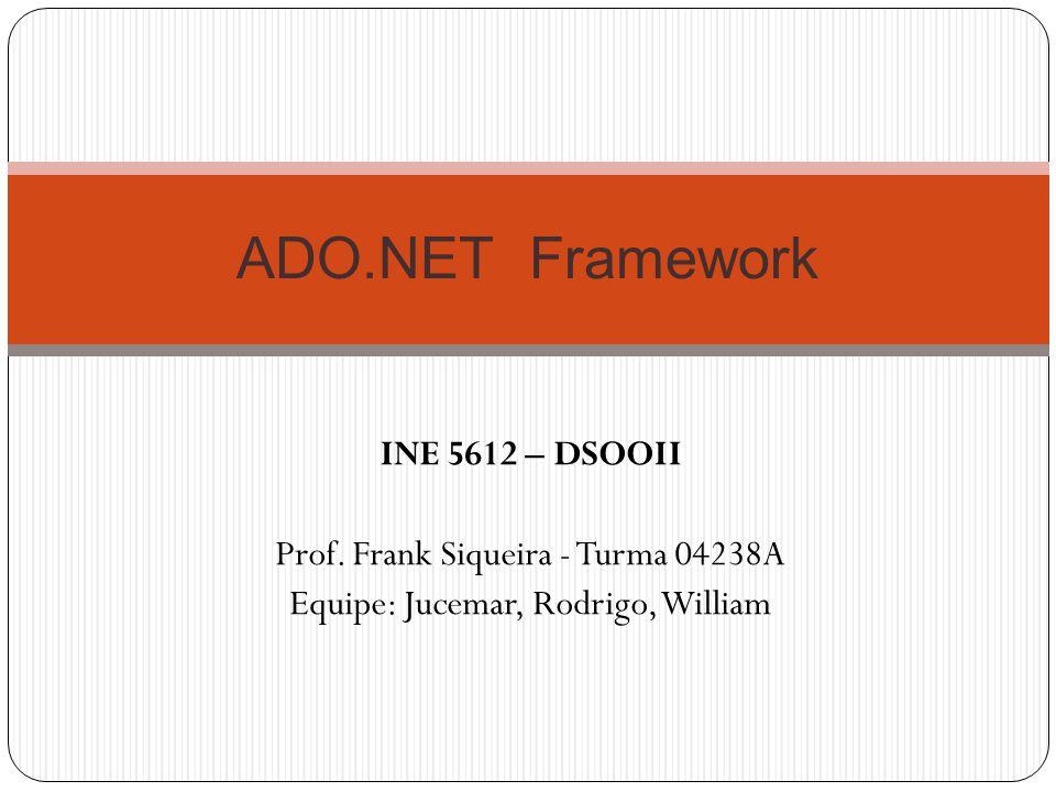 ADO.NET Framework INE 5612 – DSOOII
