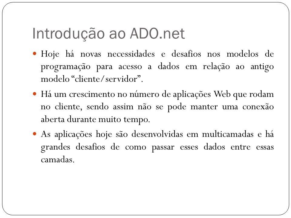 Introdução ao ADO.net