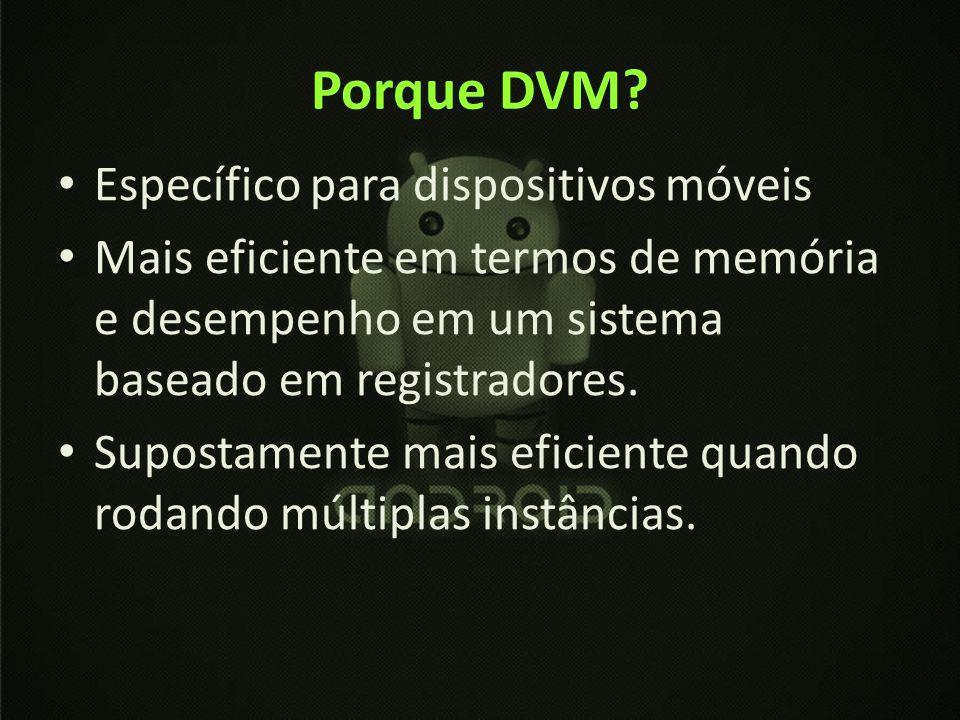 Porque DVM Específico para dispositivos móveis