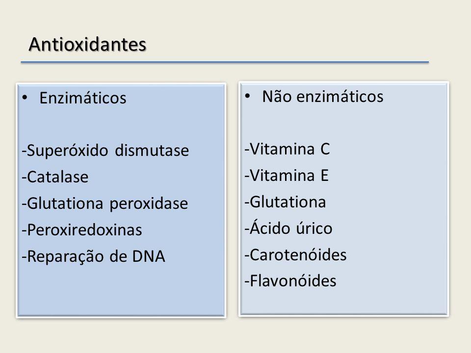 Antioxidantes Enzimáticos Não enzimáticos -Superóxido dismutase