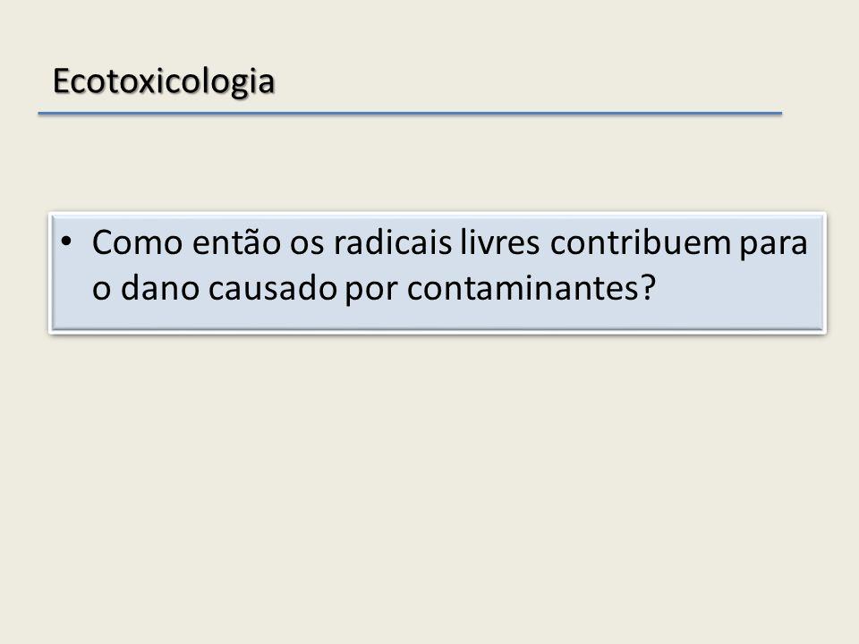 Ecotoxicologia Como então os radicais livres contribuem para o dano causado por contaminantes